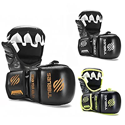 NEW ITEM Sanabul Essential 7 oz MMA Hybrid Sparring Gloves