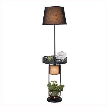 Lampadaire en fer forgé étagère à fleurs étagère décoration lumière ...