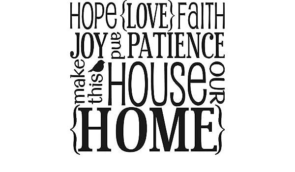 pegatinas de pared tortugas ninja Hope Love Faith Patience ...