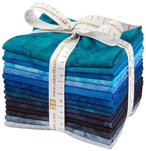 Lunn Studios Artisan Batiks Prisma Dyes Open Waters 15 Fat Quarters Robert Kaufman Fabrics FQ-829-15 by Robert Kaufman Fabrics