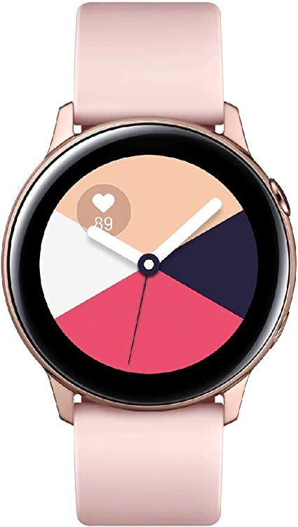 Samsung Galaxy Watch Active - 40mm, IP68 Water Resistant, Wireless Charging, SM-R500N International Version (Rose Gold)