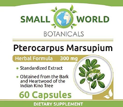 Pterocarpus Marsupium / Premium Silbinol® Extract - 300 mg Capsules - 60 Capsules per bottle