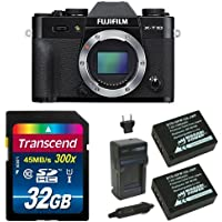 Fujifilm X-T10 Body Black Mirrorless Digital Camera Deluxe Bundle (Old Model)