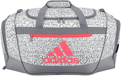 adidas Women's Defender III small duffel Bag, Red, One Size
