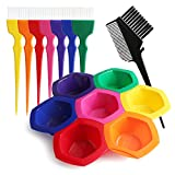 DIY/Professional Tint Kit, Segbeuaty Hair Coloring Highlighting Tools on Hair Dye, Rainbow Hair Color Mixing Bowls Brushes Comb for Dyed Hair, Omber Hair Dye or Art Paint Palatte