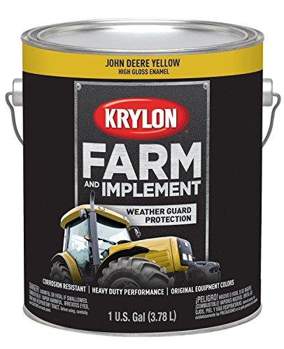Krylon 1970 Krylon Farm & Implement Paints John Deere Yellow 128 oz. Gallon w/Solvent Base Krylon Farm & Implement Paints