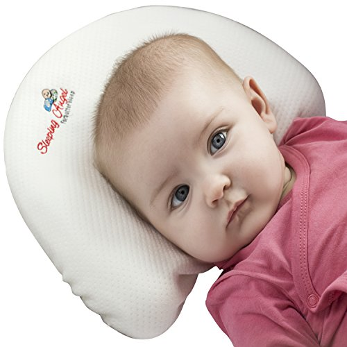 Baby Head Shaping Pillow For Newborns Premium Memory Foam