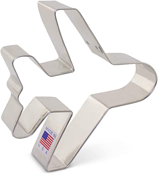 Stainless Steel Airplane Cookie Cutter for kids Aircraft Biscuit Fondant Cutter