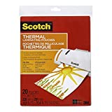 "Scotch Thermal Laminating Sheets, 9"" x 11.5"", 3mm Thick, 20 Laminating Pouches"