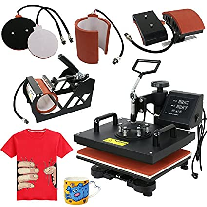 c52821e0bec Amazon.com  ZENY 5 In 1 Heat Press Machine Pro 12