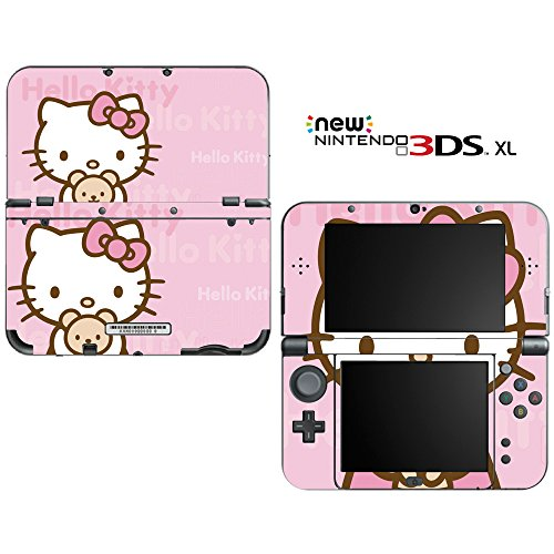 """Hello Kitty Decorative Video Game Decal Skin Sticker Cover for the """"New"""" Nintendo 3DS XL (2015-2017 Edition)"""