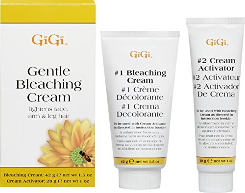 Hair Bleach Cream - GiGi Gentle Hair Bleaching Cream to Lighten Face, Arm, and Leg Hair