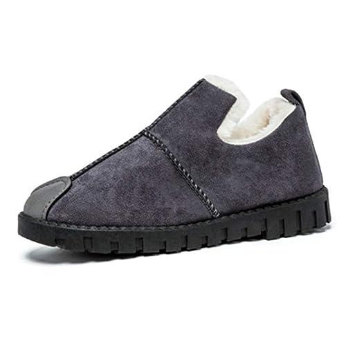 Zapatos De Mujer Invierno CáLido Mocasines Pisos Gamuza Antideslizante Mujer SóLido Slip-On Vaca Gamuza Calzado Informal: Amazon.es: Zapatos y complementos