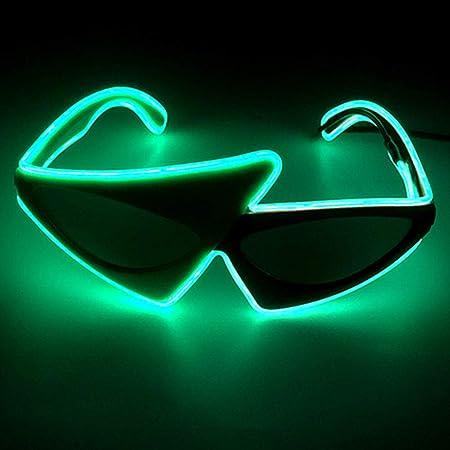 axaya - Gafas de luz LED con Forma Especial para Fiesta de ...