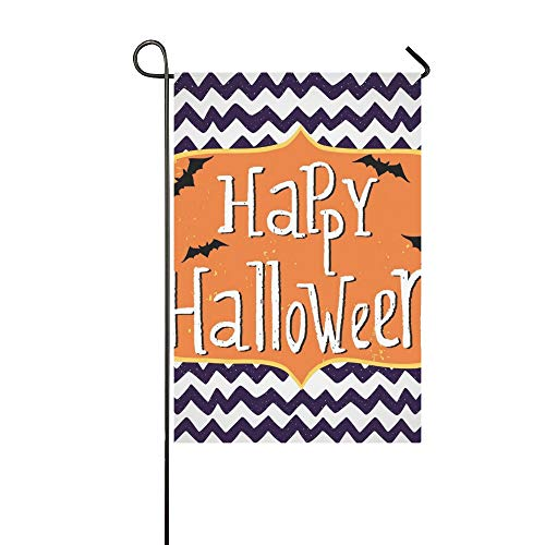 (Home Decorative Outdoor Double Sided Cute Halloween Invitation Greeting Card Template Garden Flag,house Yard Flag,garden Yard Decorations,seasonal Welcome Outdoor Flag 12 X 18 Inch Spring Summer)