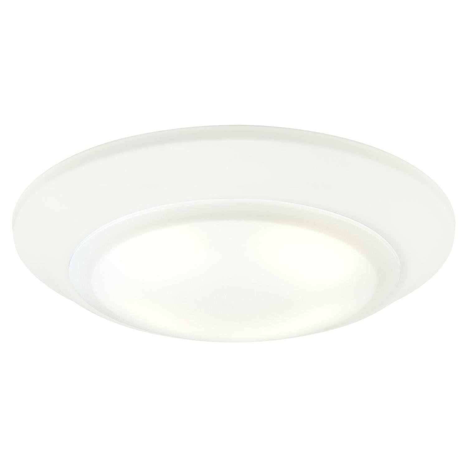Westinghouse Lighting 6322900 Large LED Indoor/Outdoor Dimmable Surface Mount Wet Location, White Finish with Frosted Lens