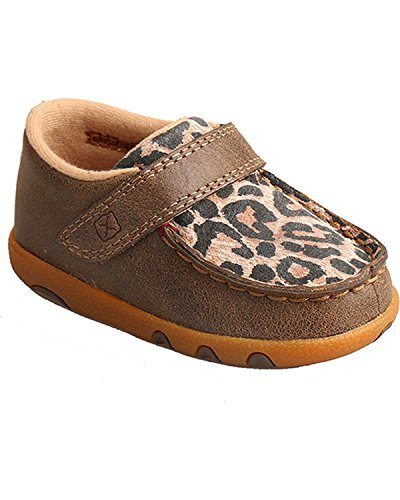 Pictures of Twisted X Infant-Girls' Leopard Driving Moccasins - 1