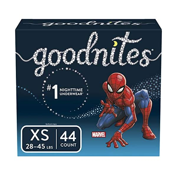 Goodnites Bedwetting Underwear for Boys, X-Small, 44 Ct, Discreet