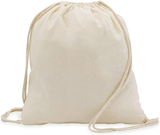 DISOK. Lote de 50 mochilas de cuerdas gruesas en tejido 100 ...