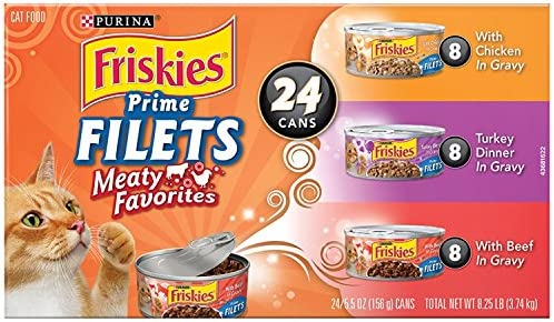Purina Friskies Gravy Wet Cat Food 24 Count Variety Packs, Prime Filets - (24) 5.5 oz. Cans 2