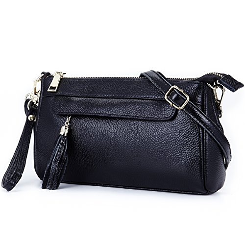 Lecxci Leather Crossbody Shoulder Wallets