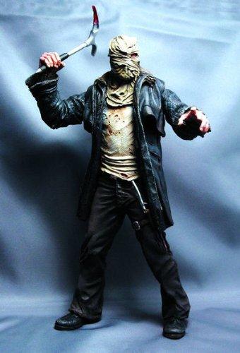 Mezco Cinema of Fear: Friday The 13th: Jason Action Figure (Bag on Head - Screen Grabs Fear