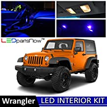 LEDpartsNOW Jeep Wrangler 2007-2013 Blue Premium LED Interior Lights Package Kit (5 Pieces)