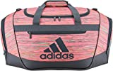 adidas Women's Defender III small duffel Bag, Visionary Chalk Pink/Deepest Space, One Size