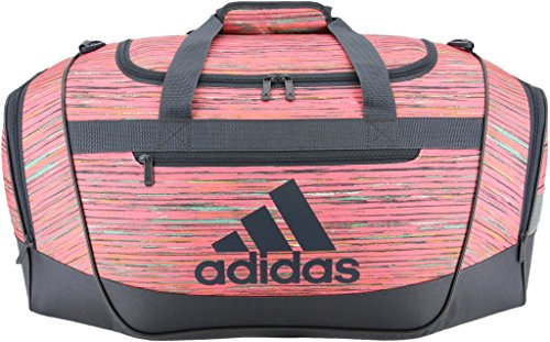 adidas Defender III Duffel Bag, Visionary Chalk Pink/Deepest Space, Small
