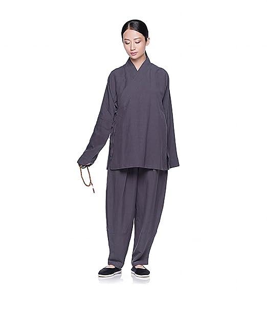 Amazon.com: Katuo Mujer Conjuntos de ropa Meditación budista ...