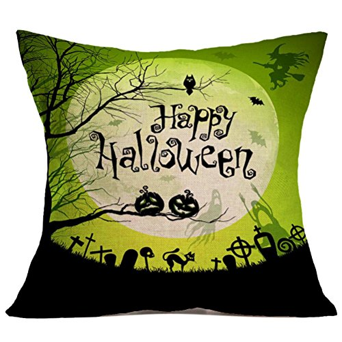 [Gotd Halloween Pillows Cover Decorations Decor Halloween Throw Pillow Case Sofa Waist Throw Cushion Cover Home Decor Square 45 x 45cm 18 x 18inch] (Halloween Animatronics)