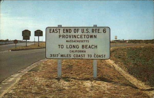 East End Of U. S. Rte. 6 Provincetown, Massachusetts Original Vintage - Rte 50 Us