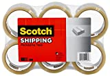 Scotch Shipping Packaging Tape, 2.83 in. x 54.6 yd., 6 Rolls/Pack