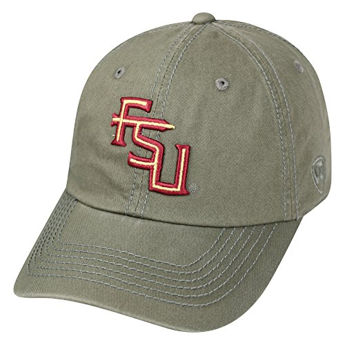 Elite Fan Shop Florida State Seminoles Hat Interlock Charcoal - Adjustable - Light Charcoal