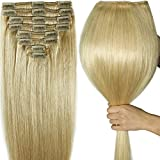 "130g-160g 16"" 18"" 20"" 22 Inch True Double Weft Thick Full Head Set Clip in 100% Remy Human Hair Extensions Top Grade 7A For Woman Beauty 8 Pieces 18 Clips"