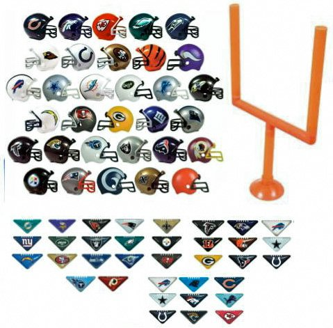 2017 NFL Helmet Set. All 32 Teams. Mini Football 2