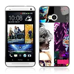 CQ Tech Phone Accessory: Carcasa Trasera Rigida Aluminio Para HTC One - Pop Art Colors