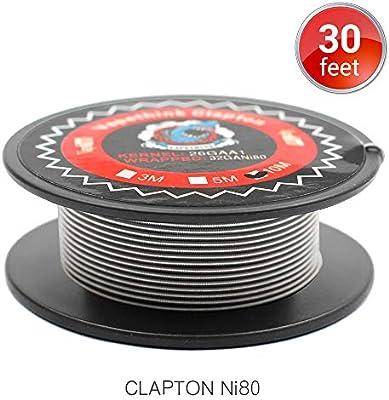 10M Vapethink Ni80 Clapton Nicrome Wire, Alambre de Calefacción AWG26GA+32GA (Ni80) Resistencia Vape Coil: Amazon.es: Salud y cuidado personal