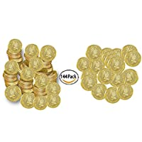 Play Kreative Plastic Gold Coins - Fake Money Party Favors