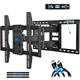 Mounting Dream Full Motion TV Mount Wall Bracket TV Wall Mounts for 42-75 Inch TV, Premium TV Bracket, Fits 16, 18, 24 inch Wood Stud Spacing with Articulating Arm up to VESA 600x400mm, 132 lbs MD2298: more info