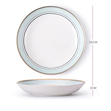 Dinner plate ceramic plate creative nordic western dish 8 Inch-H  sc 1 st  Amazon.com & Amazon.com | Dinner plate ceramic plate creative nordic western dish ...