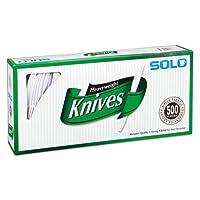 Cuchillos de plástico SOLO Cup Company Solo Heavyweight, 500 unidades, blanco