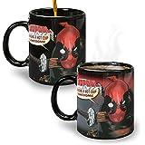 Deadpool Warped Skin Reactive Heat-Changing Mug 12 Oz Ceramic