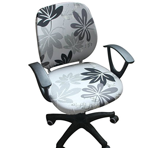 Jiyaru Rotating Armchair Slipcover Removable Stretch Computer Office Chair Cover #3 by Jiyaru