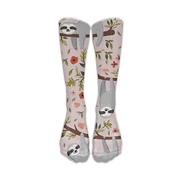 Pink Sloth Compression Socks For Wome And Men, -