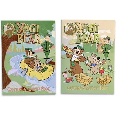 1 piece of Yogi Bear Coloring & Activity Book - 2 Assorted Color (Random Selection) : Nursery Wall Decor : Baby