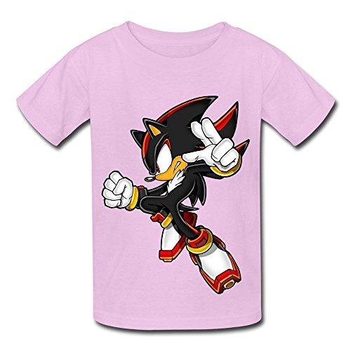 Kazzar Kid's Shadow The Hedgehog Round Collar T Shirt M