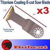 3 Pcs Titanium E-cut Oscillating Multi Tool Saw Blade for Fein Multimaster Bosch Multi-x Craftsman Nextec Dremel Multi-max Ridgid Dremel Chicago Proformax Blades, Outdoor Stuffs