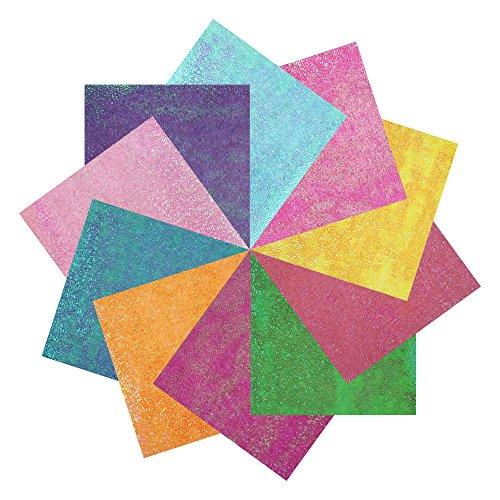 Bilipala Easy Origami Iridescent Paper for Beginners,DIY Cool Simple Origami Crane for Paper Art,10 Color, 100 (Diy Origami Paper)