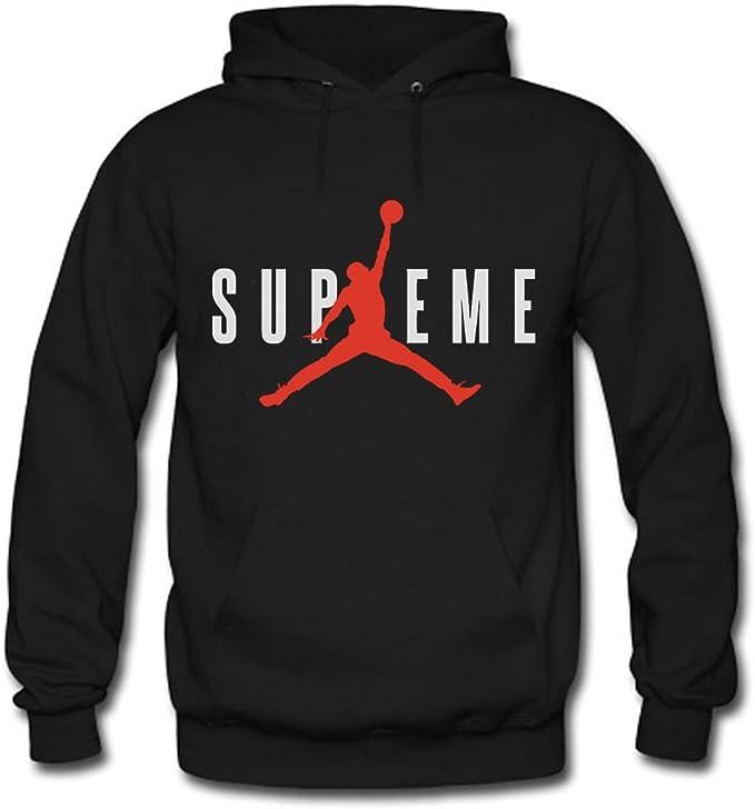 Supreme Air Jordan 1 Men's Hooded Sweatshirts